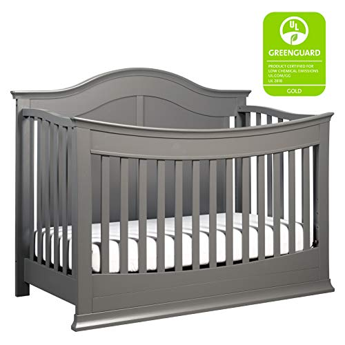 DaVinci Meadow 4-in-1 Convertible Crib with Toddler Bed Conversion Kit, Slate from DaVinci