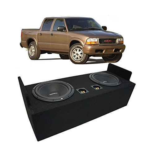 "Fits 1982-2004 GMC Sonoma Extended Cab Truck Rockford Prime R1S412 Dual 12"" Sub Box Enclosure - Final 2 Ohm"