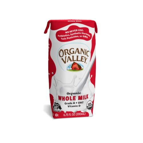 Organic Valley Single Serve Aseptic Milk - Whole - Case of 12 - 6.75oz Cartons by Organic Valley