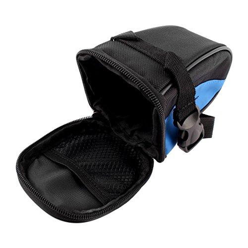 sourcingmap® Radfahren Fahrrad Schwarz Blau Satteltasche Radtasche Tasche B-SOUL Berechtigt