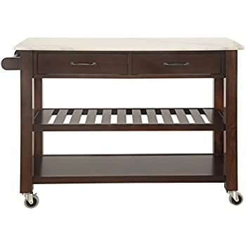 best choice products natural wood mobile kitchen island utility cart with stainless. Black Bedroom Furniture Sets. Home Design Ideas