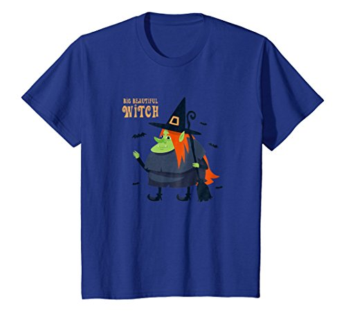 Kids Big Beautiful Witch Shirt Funny Halloween Costume