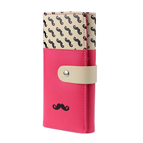 Women's Clutch, Tonsee Beard Pattern Button Wallet Bag Handbag Card Holder