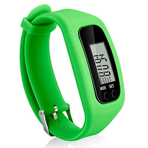 Bomxy Fitness Tracker Watch, Simply Operation Walking Running Pedometer with Calorie Burning and Steps Counting (Green)