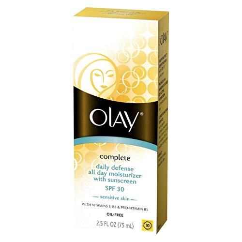 Complete Sunblock - OLAY Complete 30 Defense Daily UV Moisturizer, SPF 30, Sensitive Skin 2.50 oz (Pack of 4)