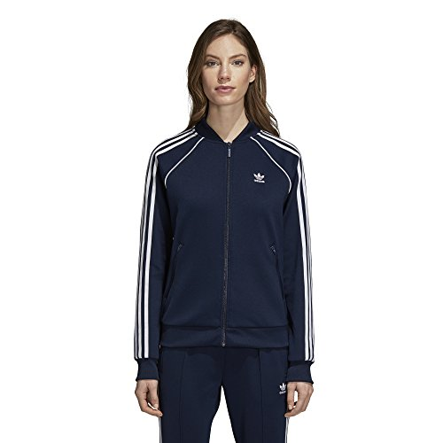 (adidas Originals Women's Superstar Tracktop, Collegiate Navy, S)