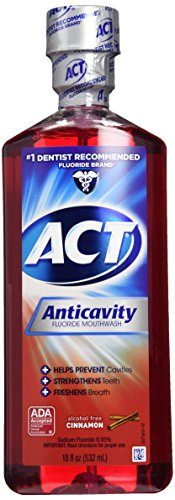 Act Fluoride Rinse (ACT Alcohol Free Anticavity Fluoride Rinse-Cinnamon-18 oz, 2 pk)
