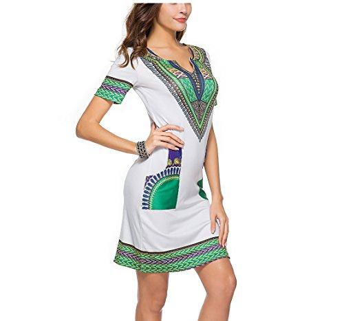 Gray Dress Sleeves Neck Cocktail Dress Waist Summer V Party Mini High Casual Short Sexy 123 Elegant SYGoodBUY Printed wT1tqA