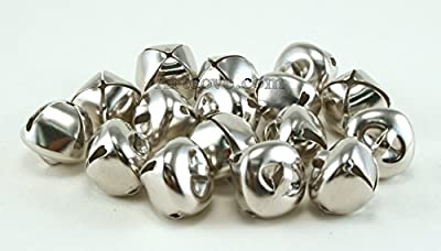 5/8 Inch 16mm Silver Craft Jingle Bells Charms Bulk Wholesale 100 Pieces