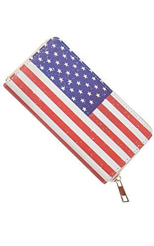 Eye Pattern Wallet Leather American Clutch CCFW Funny Flag Emoji PU TqwwB5gc