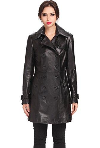 Lambskin Trench Coat (BGSD Women's