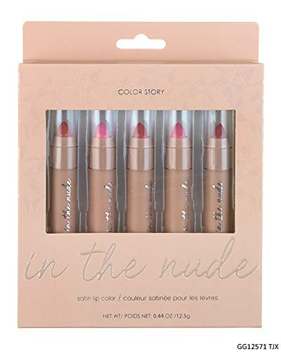 Amazon Com Color Story In The Nude Satin Lip Color Collection