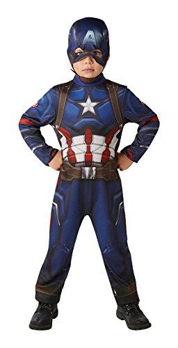 Marvel - I-620678 Traje clásico de niños Guerra civil, M (5-6 años)