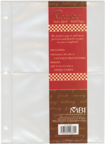 Mbi Page Protectors - Mbi Recipe 2-Up Refill Pages 10/Pkg-(20) 5