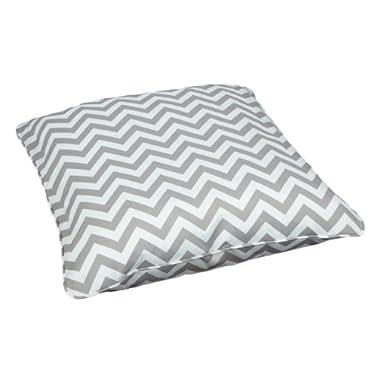 Mozaic Sabrina Corded Indoor/Outdoor 28-Inch Floor Pillow, Large, Chevron Grey