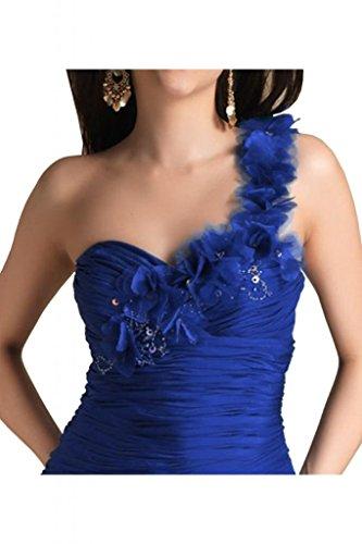 TOSKANA BRAUT Damen Ein-Schulter Abendkleider Kurz Chiffon Cocktail Party Abiballkleider Azul Real