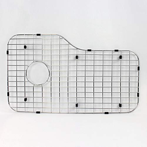 Inch Bottom 1 Grid (Transolid TSGM33221 Meridian Bottom Sink Grid, 27.48-in L x 16.5-in W x 1-in H, Stainless Steel)