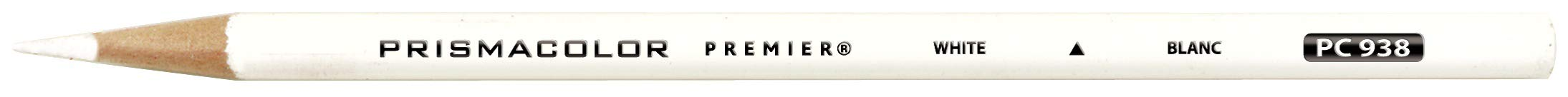 Prismacolor 3365 Premier Soft Core Colored Pencil, White Pack of 12