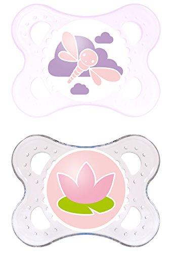 MAM 514122 - Original Latex 0-6, Schnuller, für Mädchen, Doppelpack, farblich sortiert - BPA frei