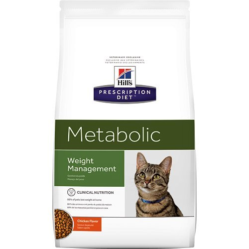 Hill's Prescription Diet Metabolic Weight Management Chicken Flavor Dry Cat Food 17.6 lb