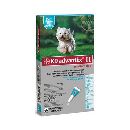 Flea and Tick Control for Dogs 10-22 lbs 6 Month Supply (3 Pack)