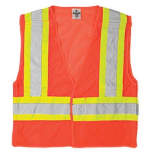 ML Kishigo 1176 Ultra-Cool Polyester Mesh Breakaway Vest, 5X-Large, Orange Cool Mesh Breakaway Vest