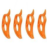 Tcplyn 4PCS Creative Mouse Shape Orange Peeler Parer Finger Type Lemon Citrus Fruits Mango Peeler Device Kitchen Gadgets