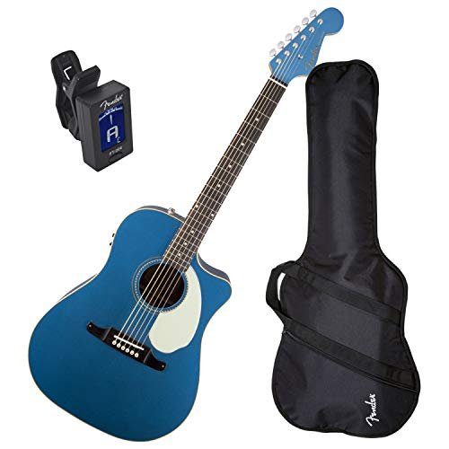 Fender Sonoran SCE Acoustic Electric Guitar Version 2 (Lake Placid Blue) w/Gig