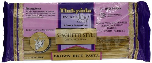 Rice Spaghetti - Tinkyada Brown Rice Pasta, Spaghetti, 16 Ounce (Pack of 12)