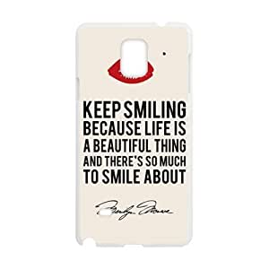 Keep Smiling Hot Seller Stylish Hard Case For Samsung Galaxy Note4