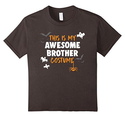 [Kids Awesome Brother Costume Shirt, Funny Brother Halloween Gift 8 Asphalt] (Awesome Brother Costumes)