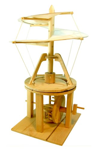 Pathfinders Leonardo da Vinci Premium Aerial Screw (Helicopter Flying Machine) Wood Model Kit