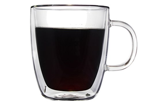 CoastLine Glass Coffee Mug Set Double