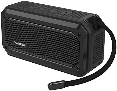 Outdoor Loud Speaker with Surround Sound Stereo Speakers W-KING Bluetooth Speakers Wireless Portable Speaker Waterproof IPX7 with 12-Hour Playtime/& Built-in Mic