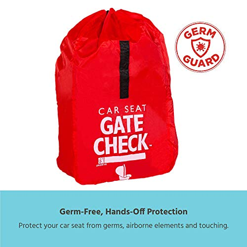 41BERjZquCL - J.L. Childress Gate Check Bag For Car Seats - Air Travel Bag - Fits Convertible Car Seats, Infant Carriers & Booster Seats, Red