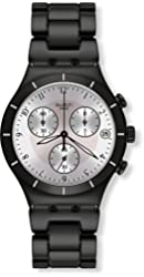 Swatch Blackas Chronograph Mens Watch YCB4026AG