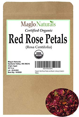 Organic Red Rose Petals | Culinary Grade A