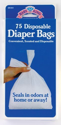 Disposable Diaper Bags Scented Tie-close Handles by Baby King by Baby King