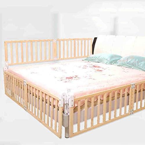 Barrières de lit en Bois Enfant de 1,2 m lit Queen Size Twin XL Rose réglable en Rail de sécurité
