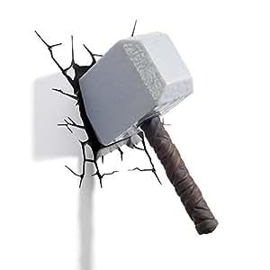 3D Deco Pared Luz - Thor Hammer