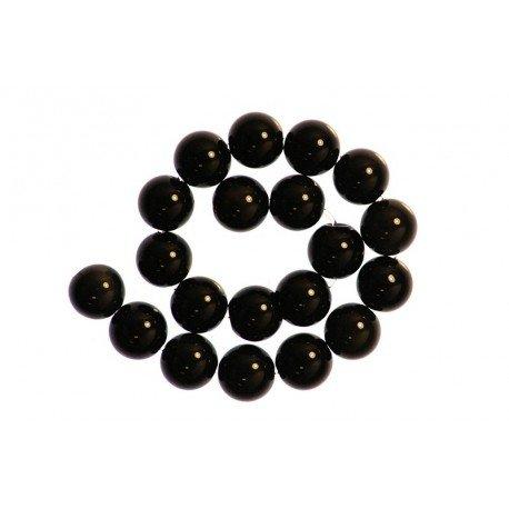 2 x Perle Obsidienne 12mm - Grade A