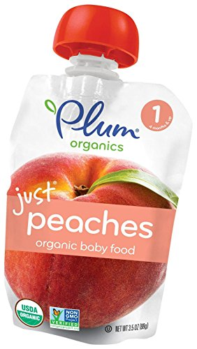 Plum Organics Stage 1 Just Fruit - Peaches - 3.5 oz - 6 pk by Plum Organics