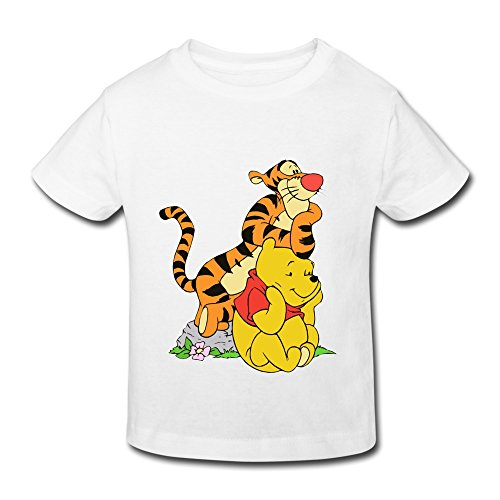 Little Boys And Girls My Friends Tigger And Pooh 100% Cotton Tshirt White 4 Toddler