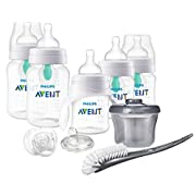 Philips Avent Anti-Colic Baby Bottle with AirFree Vent Beginner Gift Set Clear, SCD394/02