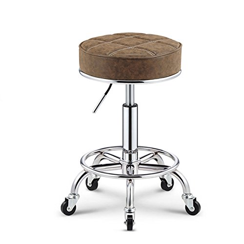 - Bar chair Cowhide rotary anti-explosion chair cash register lift bar stool high stools stool sit 50-64.5cm