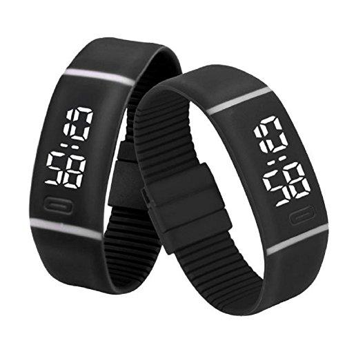 LED Watch, Malltop Unisex Rubber Bracelet Water Resistant ...