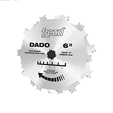 Freud 6 In. Professional Stacked Dado (SD206)
