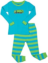 Kids & Toddler Pajamas Garbage Truck Train Boys 2 Piece...
