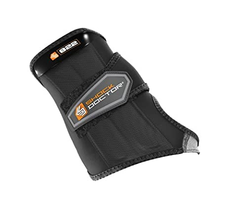 Shock Doctor Black Wrist Sleeve-Wrap Support (Left, Small) - Hockey Wrist Guards