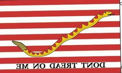 (Hebel First Navy Jack Flag 3x5 ft Dont Tread on Me Rattlesnake US Naval Ensign Ship | Model FLG - 145)